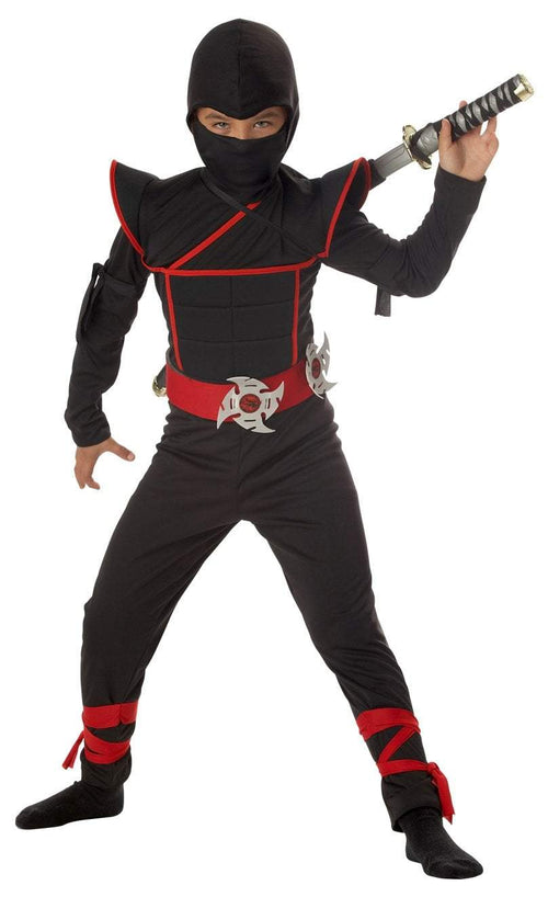 California Costumes Costumes BLACK/RED / LARGE Boys Stealth Ninja Costume