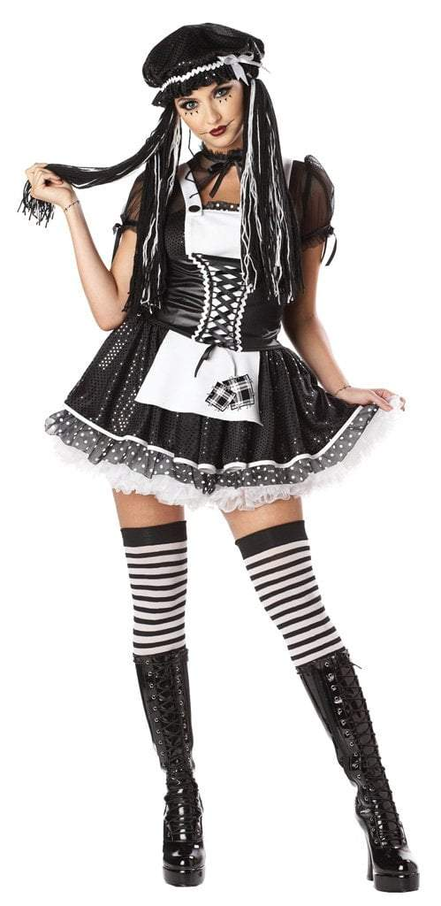 California Costumes Costumes BLACK/WHITE / LARGE Adult Dreadful Doll Costume