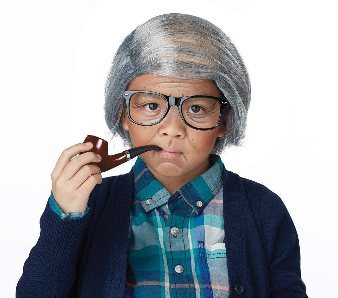 California Costumes Costumes Boys Old Man Combover Kit