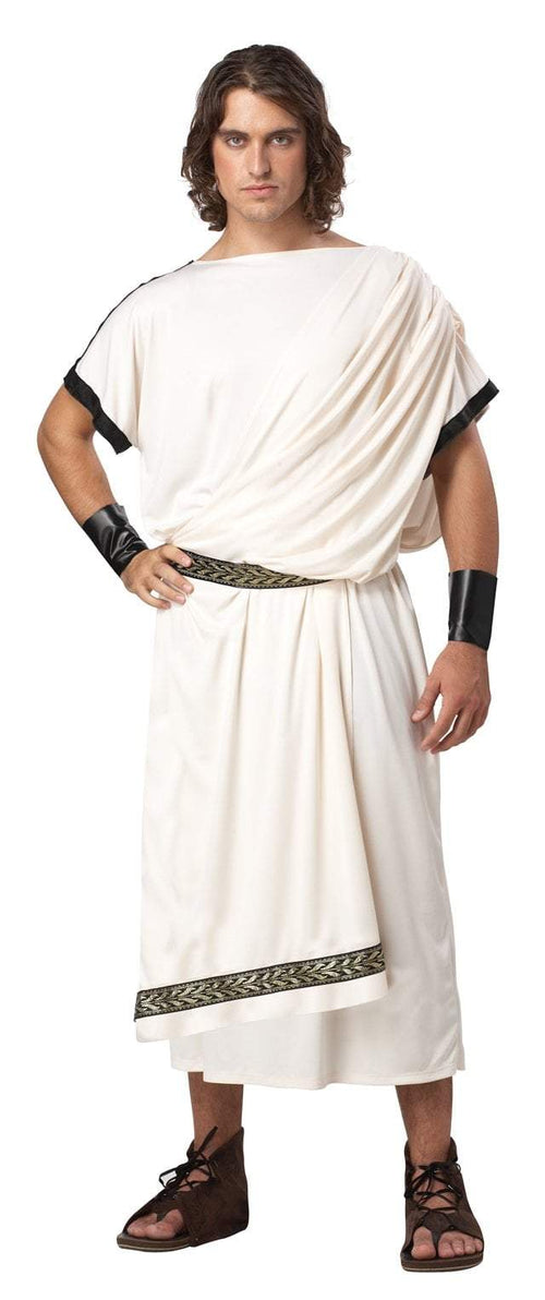 California Costumes Costumes CREAM Adult Deluxe Classic Toga Costume