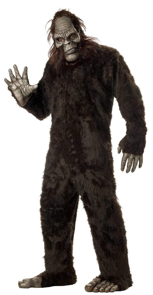 California Costumes Costumes DARK BROWN Adult Big Foot Costume