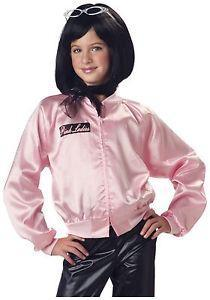California Costumes Costumes Girls Pink Ladies Jacket