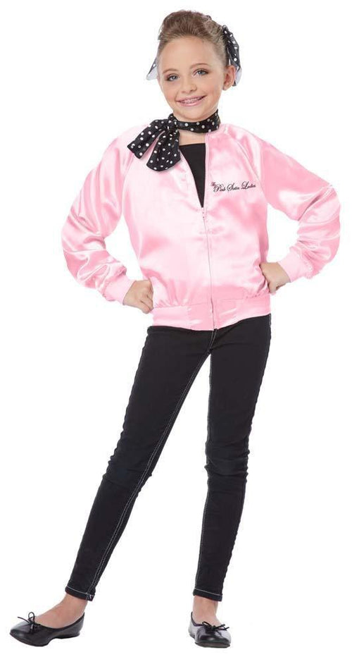 California Costumes Costumes Girls Pink Satin Ladies 50s Jacket