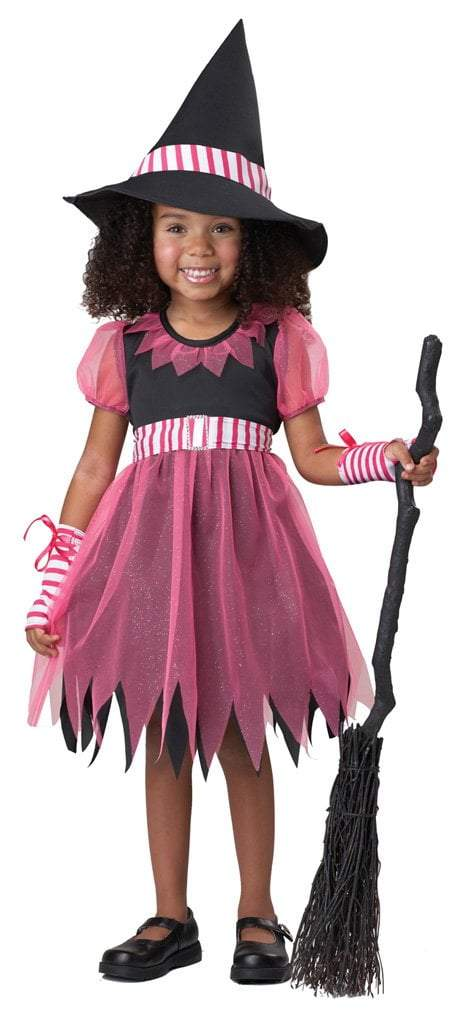 California Costumes Costumes L (4-6) / BLACK/PINK/WHIT Toddler Girls Pinky Witch Costume