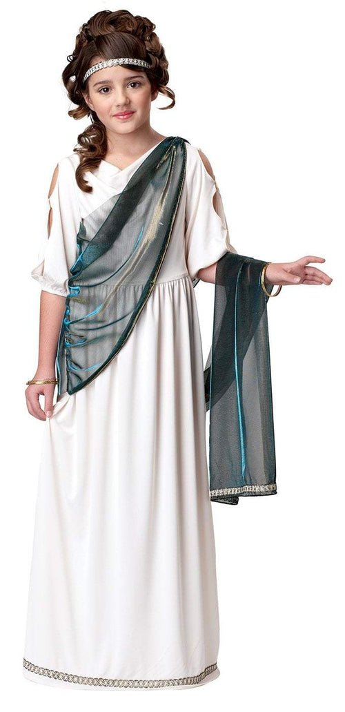 California Costumes Costumes L / CREAM/TEAL Girls Roman Princess Costume