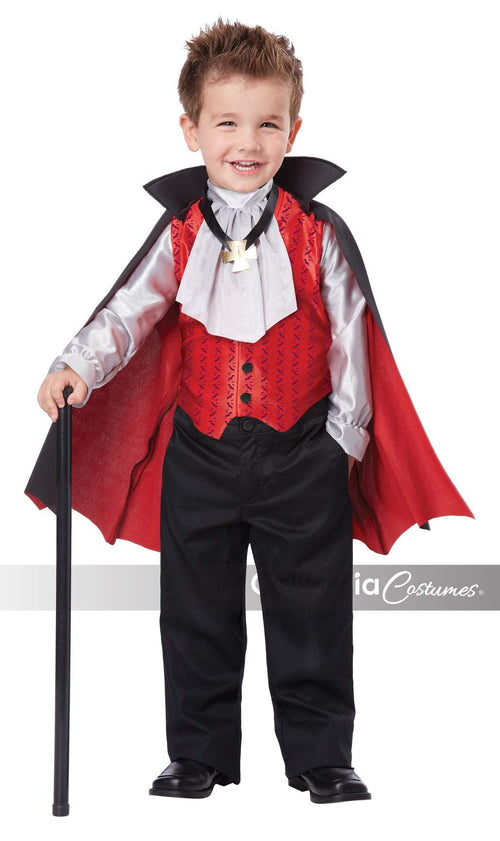 California Costumes Costumes LARGE (4-6) / BLACK/RED Toddler Boys Dapper Vampire Costume