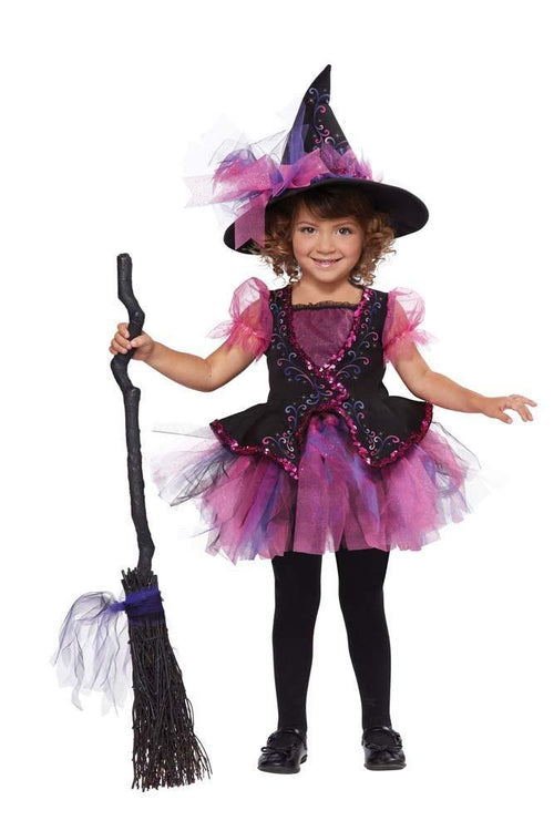 California Costumes costumes LARGE (4-6) / PINK/BLACK Toddler Girls Darling Little Witch Costume