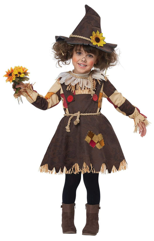 California Costumes Costumes LARGE (4-6) Toddler Girls Pumpkin Patch Scarecrow Costume