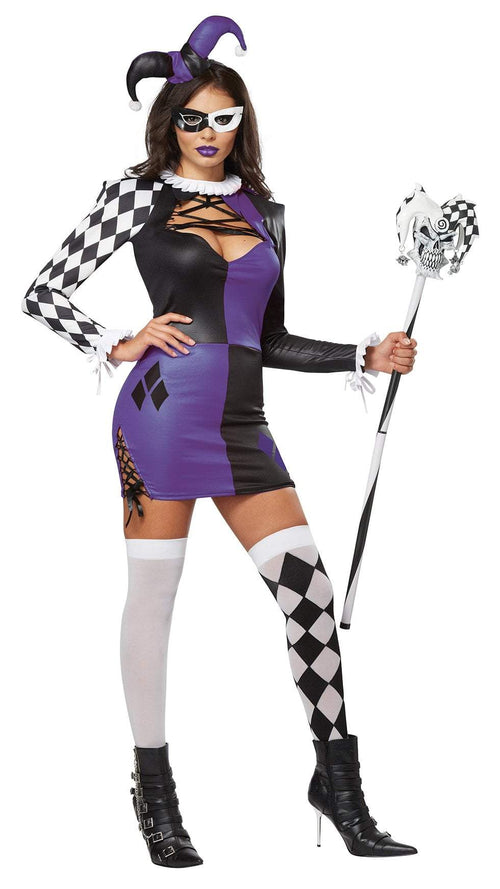 California Costumes Costumes LARGE Adult Naughty Jester Costume