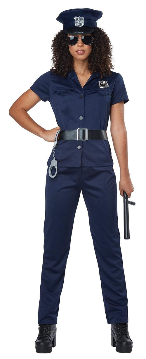 California Costumes Costumes LARGE Adult Police Woman Costume