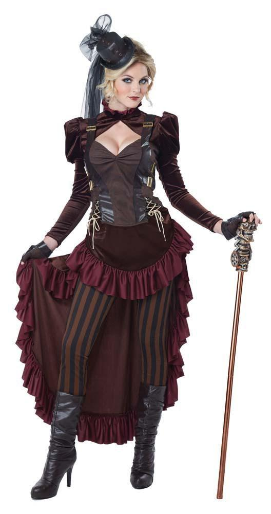 California Costumes Costumes LARGE Adult Victorian Steampunk Costumes