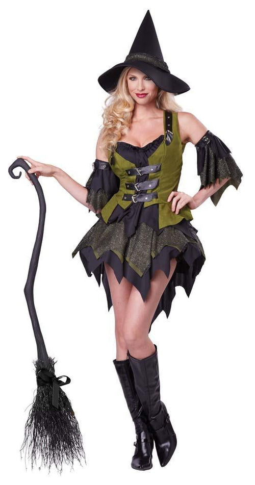 California Costumes Costumes LARGE / BLACK/GREEN Adult Bewitching Babe Costume