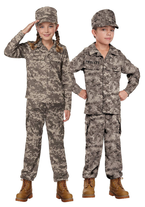California Costumes Costumes LARGE Childs Army Soldier Costume