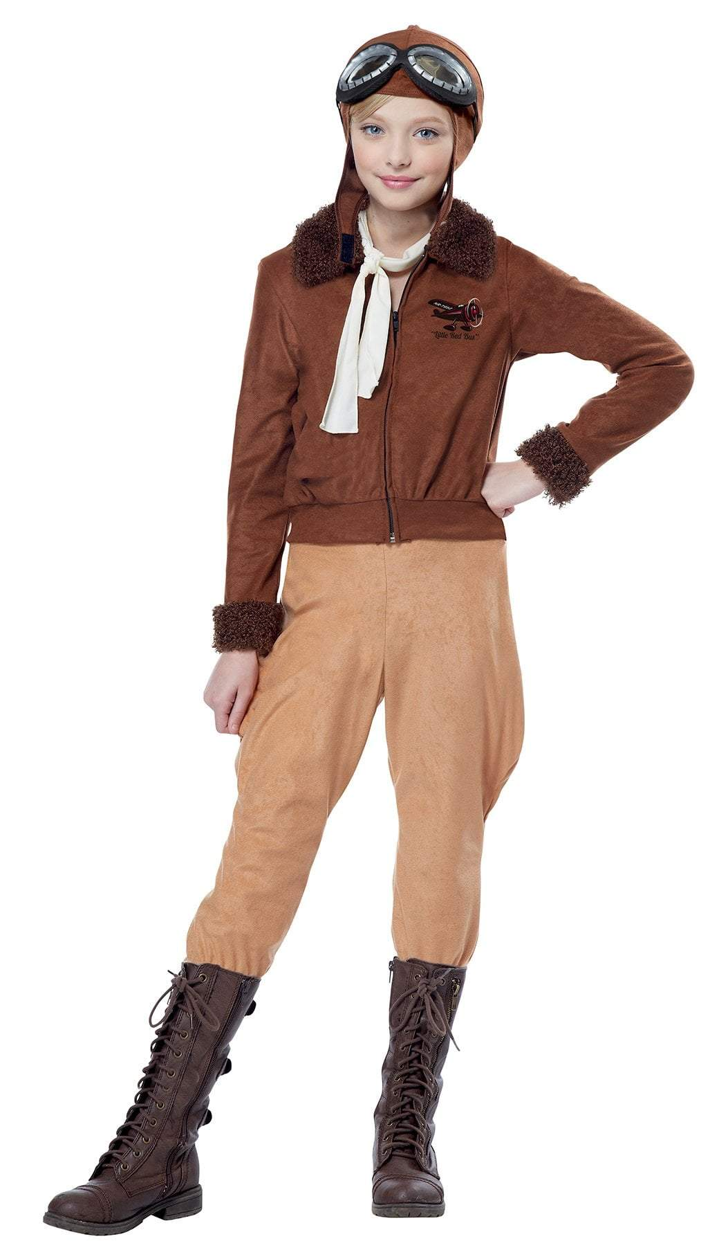 California Costumes Costumes LARGE Girls Amelia Earhart/Aviator Costume
