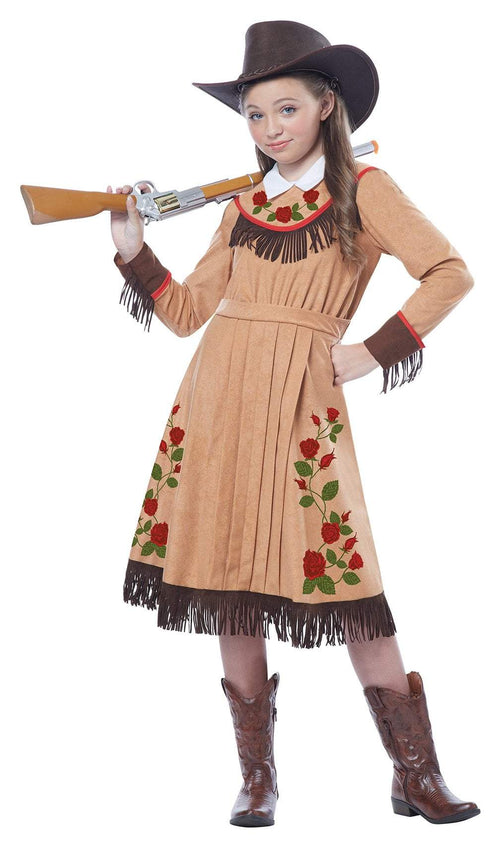 California Costumes Costumes LARGE Girls Annie Oakley Cowgirl Costume