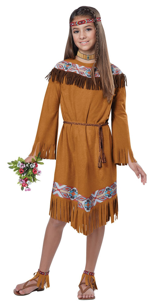 California Costumes Costumes LARGE Girls Classic Indian Girl Costume