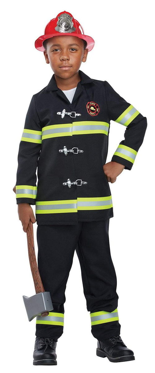 California Costumes Costumes LARGE Kid's Junior Fire Chief Costume