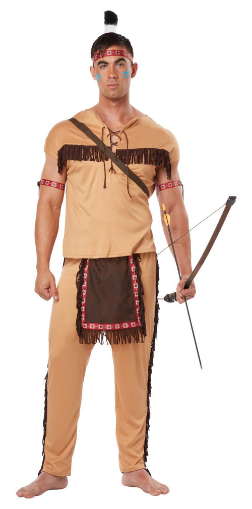 California Costumes Costumes LARGE Men's Native American Brave Costume