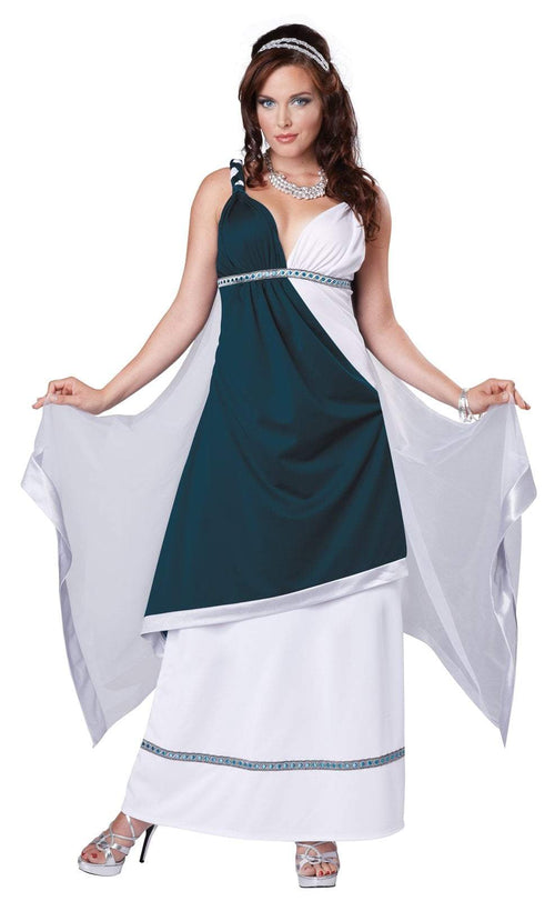 California Costumes Costumes LARGE / TEAL/WHITE Adult Roman Beauty Costume