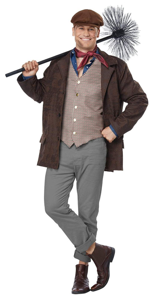 California Costumes Costumes LARGE/XLARGE Adult Chimney Sweeper Costume