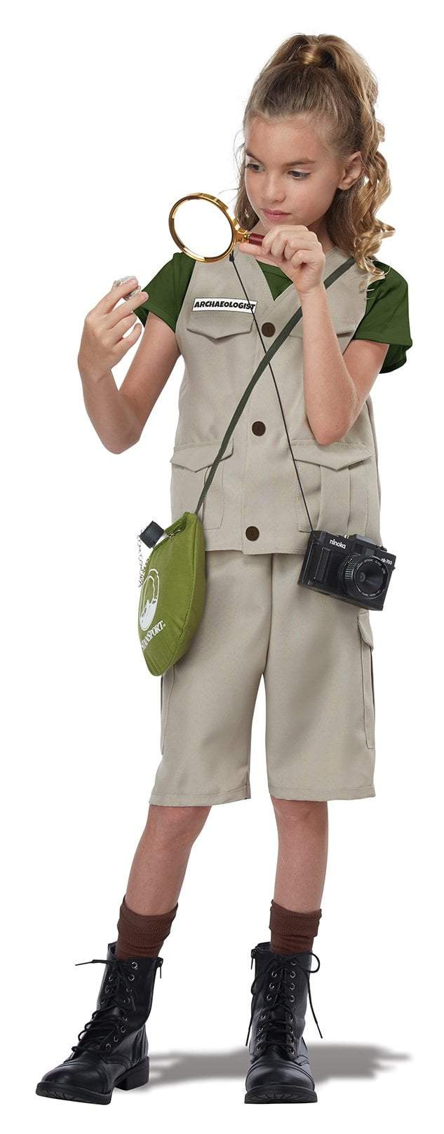 California Costumes Costumes MEDIUM Kid's Wild Life Expert/Archaeologist Costume