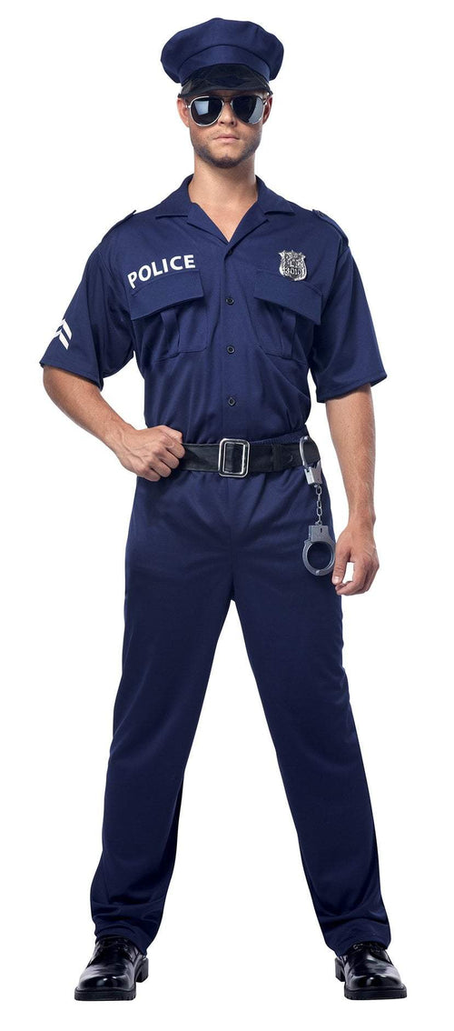 California Costumes Costumes NAVY / LARGE Adult Police Officer Costume