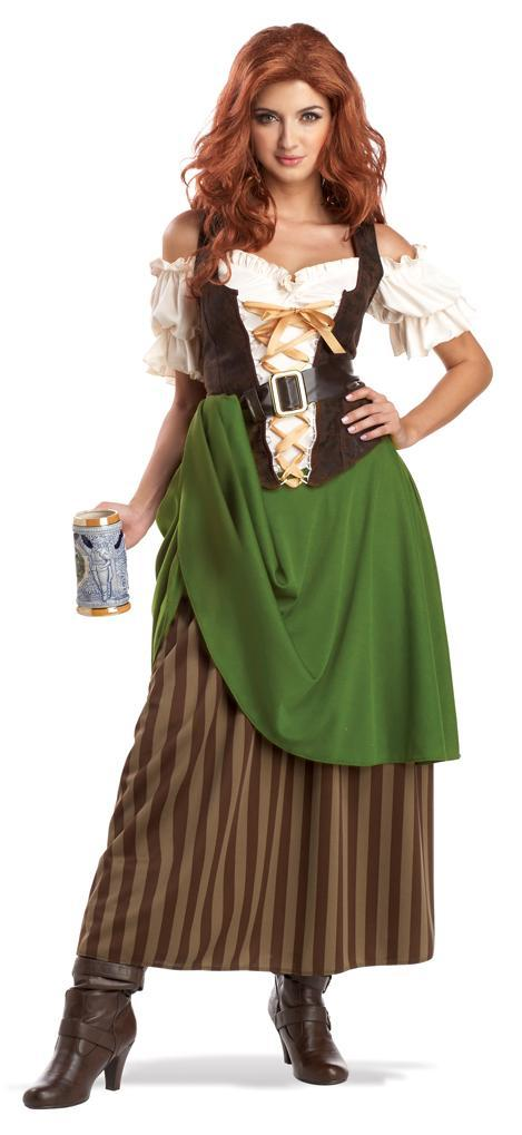 California Costumes Costumes OLIVE/BROWN / LARGE Adult Tavern Maiden Costume
