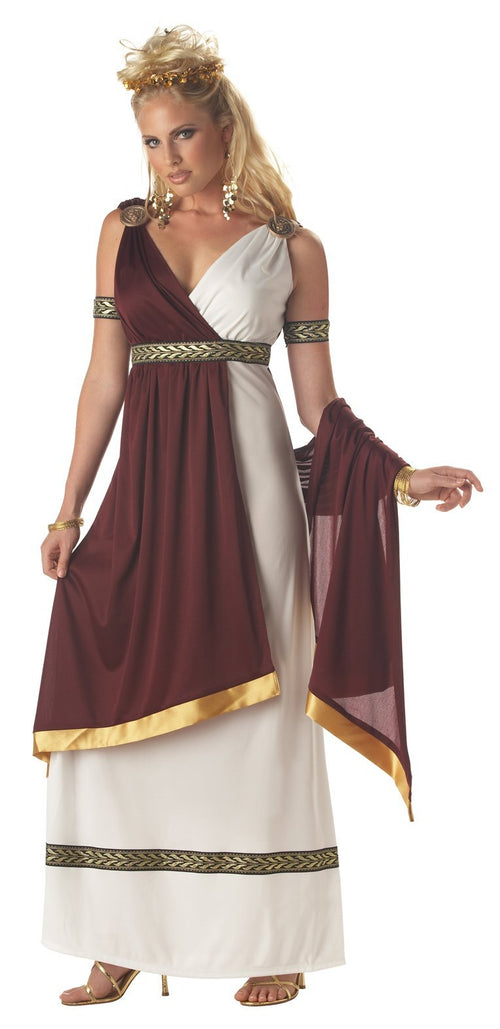 California Costumes Costumes WHITE/BURGUNDY / LARGE Adult Roman Empress Costume