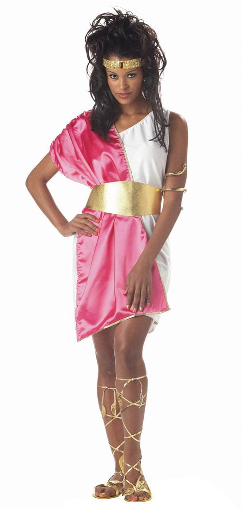 California Costumes Costumes WHITE/FUCHSIA Adult Toga Woman Costume
