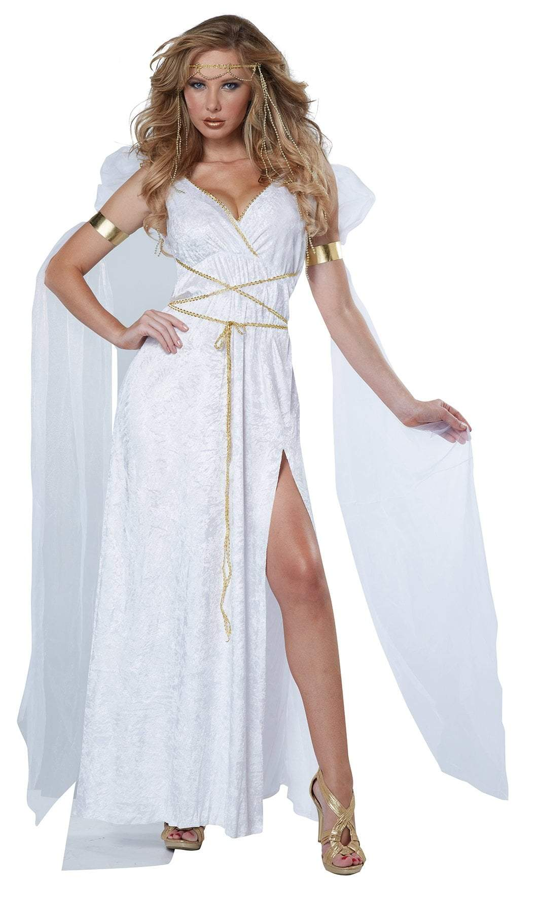 California Costumes Costumes WHITE / LARGE Adult Athenian Goddess Costume