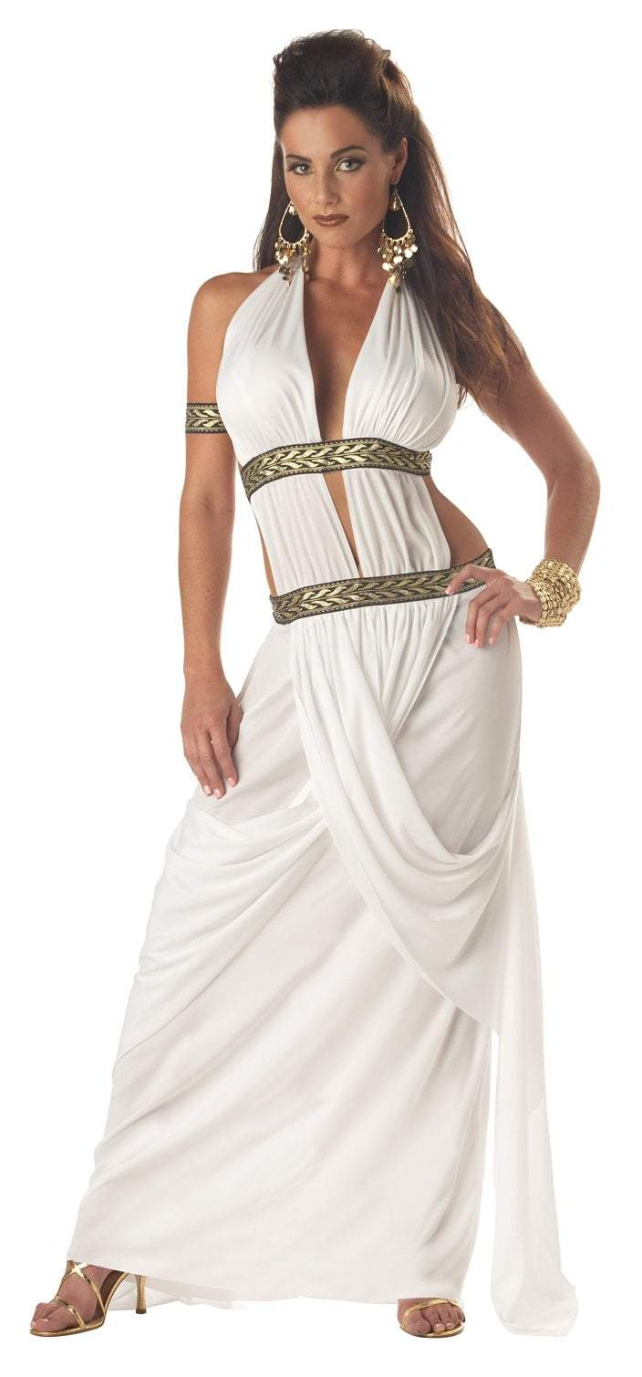 California Costumes Costumes WHITE / LARGE Adult Spartan Queen Costume