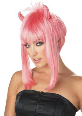 California Costumes Wigs Pink Devilicious Wig