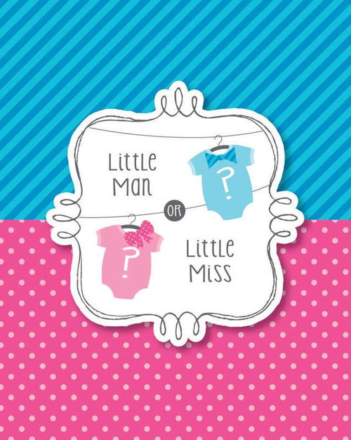 Creative Converting Baby Shower Bow or Bowtie Invitations 8ct