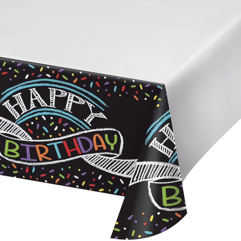 Creative Converting Birthday Chalk Birthday Table Cover