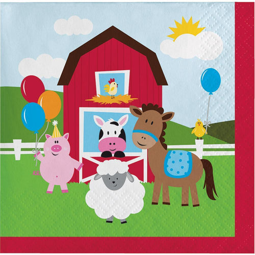 Creative Converting Birthday Farmhouse Fun Beverage Napkins 18ct