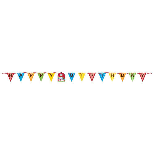 Creative Converting Birthday Farmhouse Fun Birthday Banner