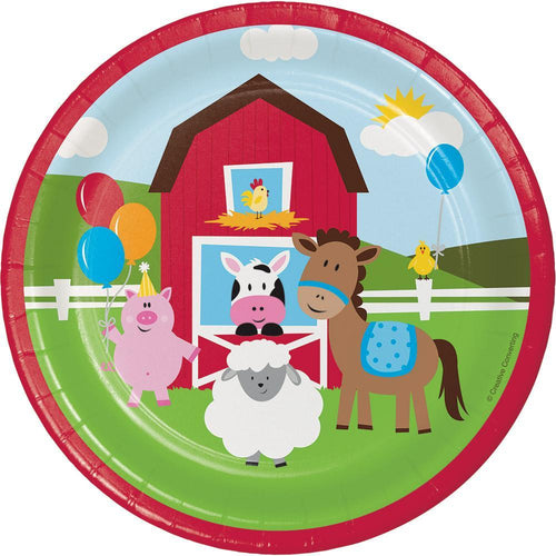 Creative Converting Birthday Farmhouse Fun Dessert Plates 8ct