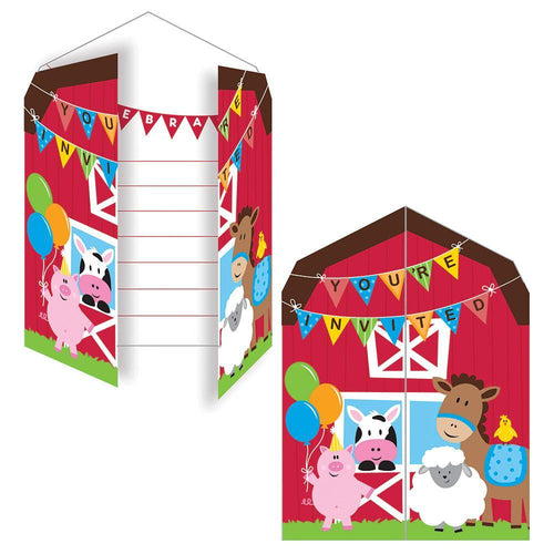 Creative Converting Birthday Farmhouse Fun Invitations 8ct