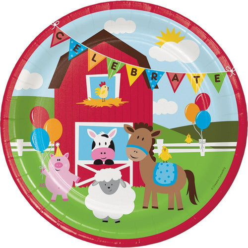 Creative Converting Birthday Farmhouse Fun Lunch Plates 8ct
