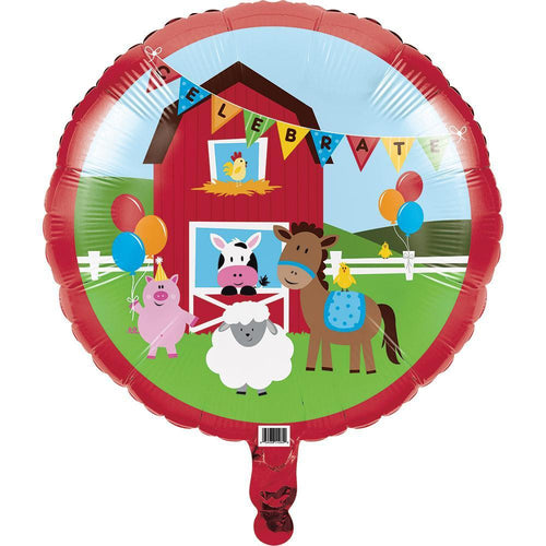 "Creative Converting Birthday Farmhouse Fun Mylar 18"" Balloon"