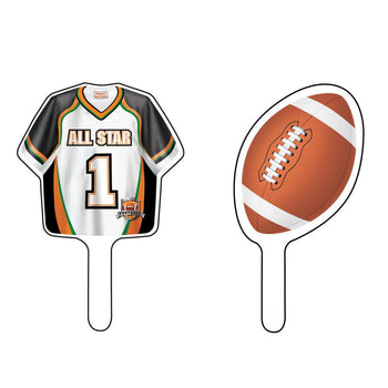 Creative Converting Football Football Cake Toppers 12ct