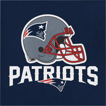 Creative Converting Football New England Patriots Lunch Napkins 16ct
