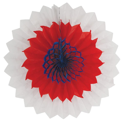 Creative Converting Patriotic Red, White & Blue Tissue Fan