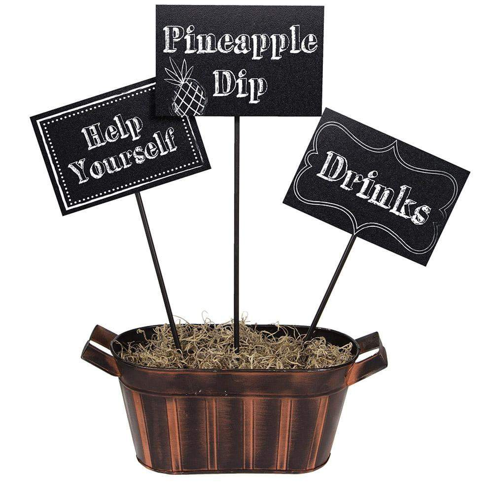 Creative Converting Retirement Chalkboard Centerpiece Sticks 3ct