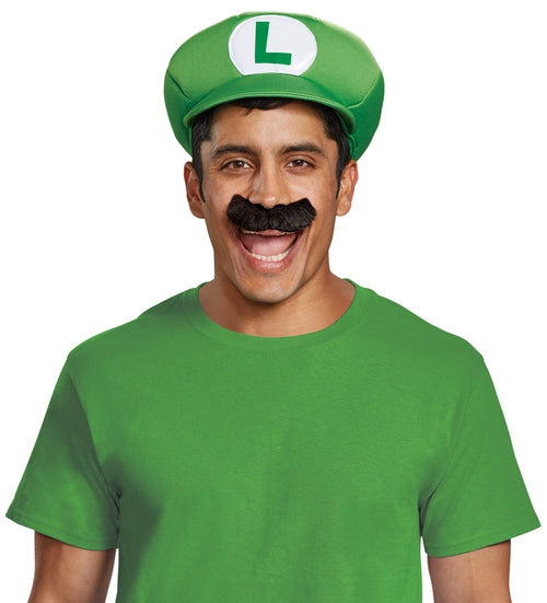 Disguise Costume Accessories Adult Luigi Hat & Mustache Accessory Kit