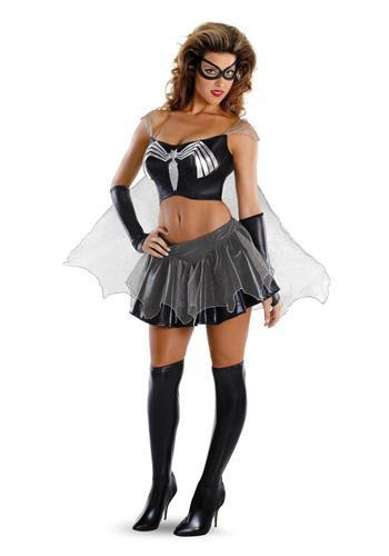 Disguise Costumes Adult Black-Suited Spider-Girl Costume