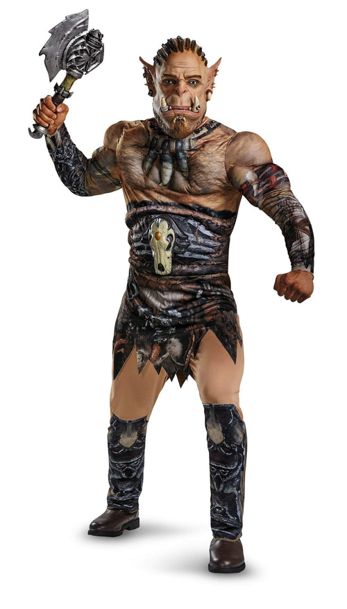 Disguise Costumes Adult Durotan Deluxe Muscle Costume - Warcraft