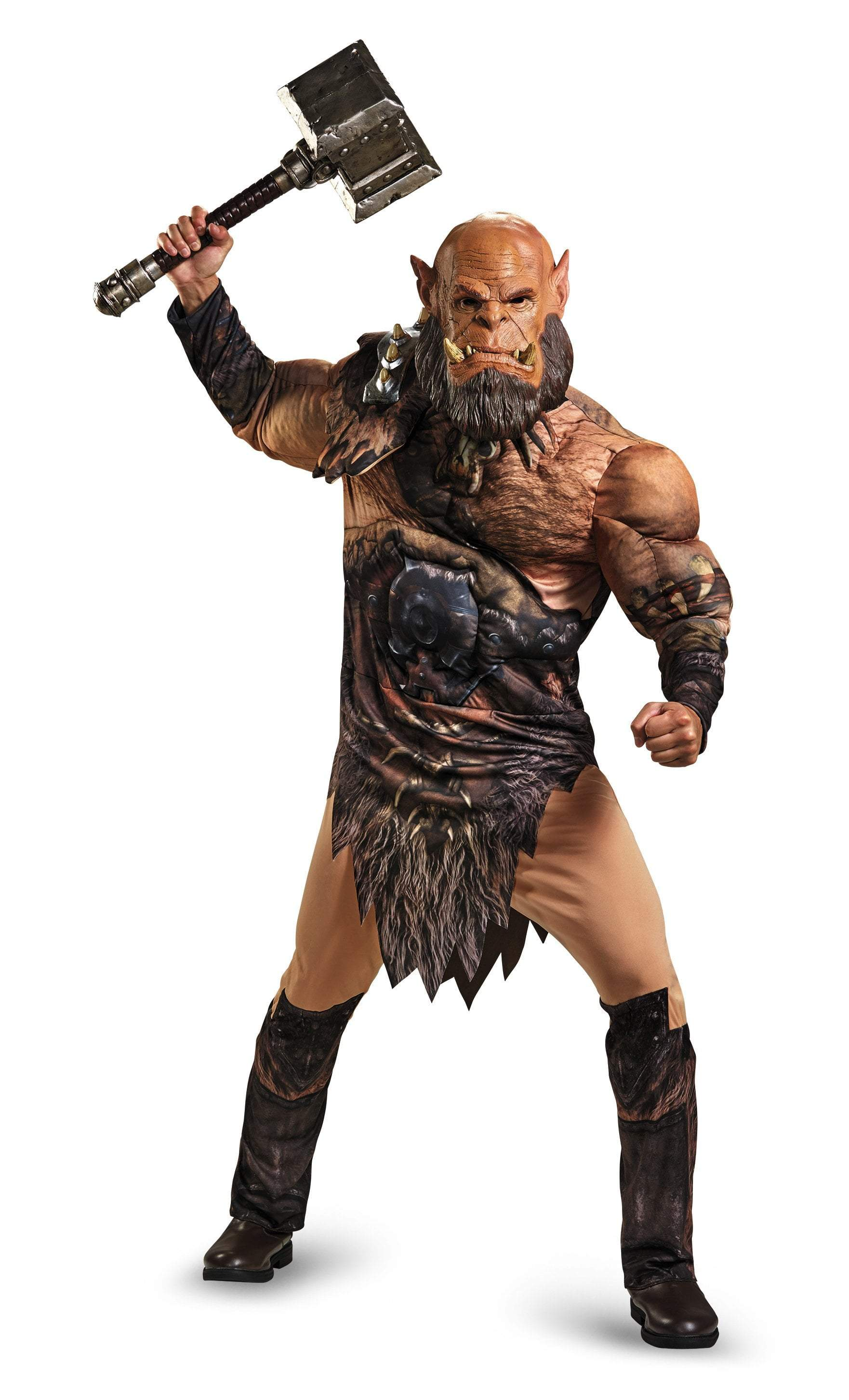 Disguise Costumes Adult Orgrim Deluxe Muscle Costume - Warcraft