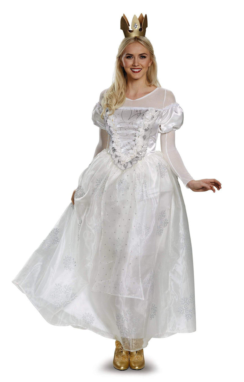 Disguise Costumes Adult White Queen Deluxe Costume