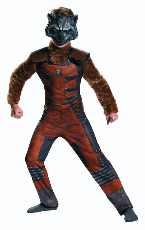 Disguise Costumes Boys Deluxe Rocket Raccoon Costume - Guardians of the Galaxy